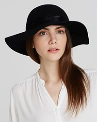 August Accessories Felt Floppy Hat With Feather Trim