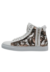 Michalsky Urban Nomad Iii Hightop Trainers Bronze Metallic White