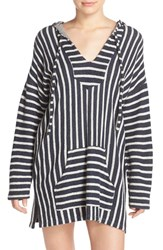 Women's Michael Lauren 'Tuf' Stripe Hoodie Tunic