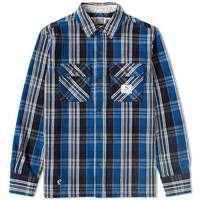 Neighborhood Cabella Check Shirt Blue