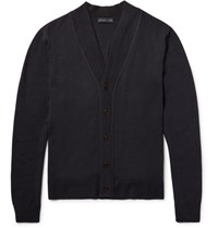 Etro Wool Cardigan Storm Blue