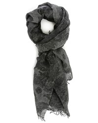 Bill Tornade Grey Pansley Scarf