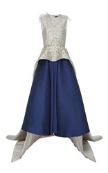 Bibhu Mohapatra Embroidered Peplum Gown Multi