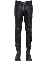 Ann Demeulemeester Stretch Leather Biker Pants