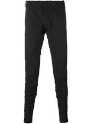 Masnada Slim Fit Tapered Trousers Black