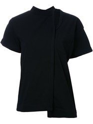 Sacai Buckle Collar T Shirt Black