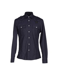 Blauer Shirts Dark Blue