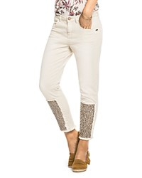 Scotch And Soda Petit Ami Sequined Jeans In Off White