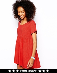 American Apparel Baby Doll Dress Red