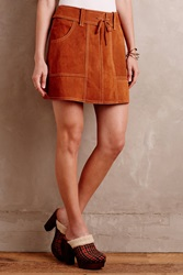 Anna Sui Suede Mini Skirt Honey