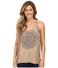 Roper 0227 Heather Jersey Tank Top Tan Women's Sleeveless