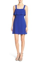 Cream And Sugar Women's Ruffle Popover Skater Dress Royal Blue