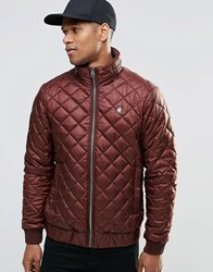 G Star Meefic Quilted Jacket Dk Bordeaux Red
