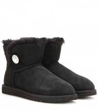 Ugg Mini Bailey Button Embellished Boots Black