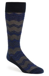 Men's Calibrate Chevron Socks Blue 3 For 30 Navy