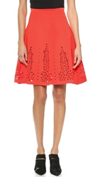 Clover Canyon Laser Cut Skirt Red