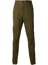 Damir Doma Straight Trousers Green