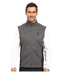 Spyder Constant Mid Weight Core Sweater Vest Polar Black 1 Men's Sweater Gray