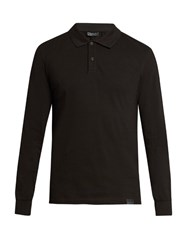 Belstaff Phillips Long Sleeved Polo Shirt Black