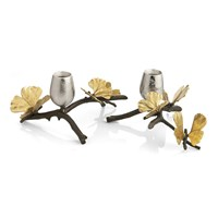 Michael Aram Butterfly Ginkgo Candle Holders Set Of 2