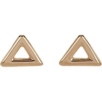 Wendy Nichol Women's Triangle Outline Stud Earrings No Color