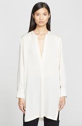 Helmut Lang Stretch Silk V Neck Tunic