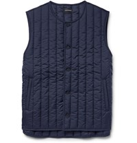 Club Monaco Quilted Shell Gilet Navy