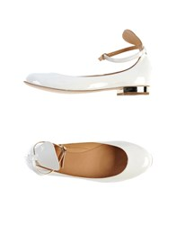 Strategia Ballet Flats White