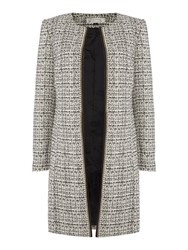 Tahari By Arthur S. Levine Asl Boucle Topper Coat Multi Coloured Multi Coloured