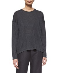 Eskandar Long Sleeve Cashmere Sweater Women's Coal