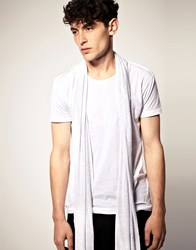 Unconditional Inserted Scarf T Shirt White
