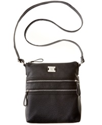 Style And Co. Veronica Crossbody Black Pebble With Silver