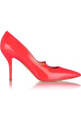 Paul Andrew Kimura Neon Patent Leather Pumps Pink