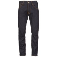 Nudie Jeans Men's Steady Eddie Regular Straight Fit Tapered Leg Jeans Dry Compact Blue