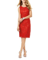 Phase Eight Rebecca Lace Sheath Dress Tomato