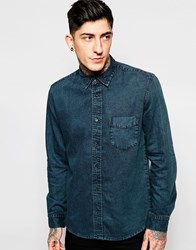 Cheap Monday Denim Shirt Air Dense Black Overdye Indigo Denseblack