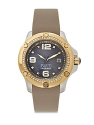 Saks Fifth Avenue Stainless Steel Watch Taupe Taupe Gold