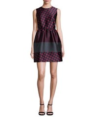 Red Valentino Dotted Silk Fit And Flare Dress Cherry Multi