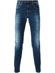 People People 'Dali' Distressed Slim Jeans Blue