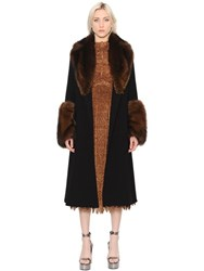 Ermanno Scervino Techno Coat With Fur Details