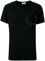 Sonia Rykiel By Zipped Chest Pocket T Shirt Black