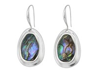 Robert Lee Morris Abalone Silver Stone Drop Earrings Abalone Earring Beige