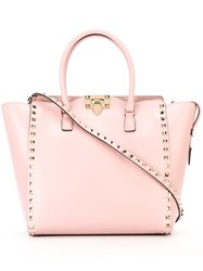 Valentino 'Rockstud' Trapeze Tote Pink And Purple