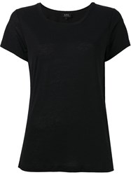 A.P.C. Scoop Neck T Shirt Black