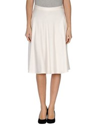 Le Ragazze Di St. Barth Skirts Knee Length Skirts Women White