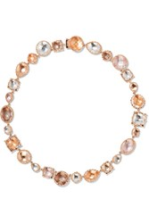 Larkspur And Hawk Sadie Riviere Rose Gold Dipped Quartz Necklace