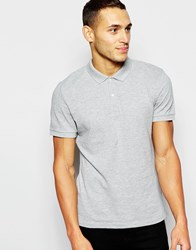 Dkny Polo Shirt Embellished Chest Logo Grey