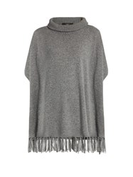Max Mara Roll Neck Cashmere Poncho Dark Grey