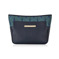 Catherine And Jean Catherine Clutch In Midnight Blue Peacock