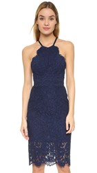Lover Oasis Halter Dress Navy